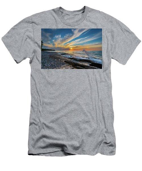 Graveyard Coast Sunset Men's T-Shirt (Athletic Fit)