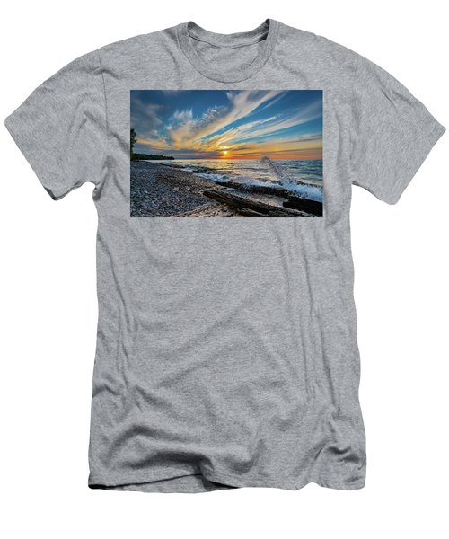Graveyard Coast Sunset Men's T-Shirt (Athletic Fit)