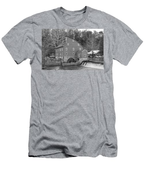 Gray Autumn At The Old Mill In Clinton Men's T-Shirt (Athletic Fit)