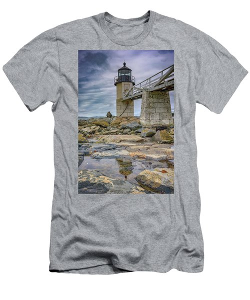 Men's T-Shirt (Slim Fit) featuring the photograph Gray Day At Marshall Point by Rick Berk