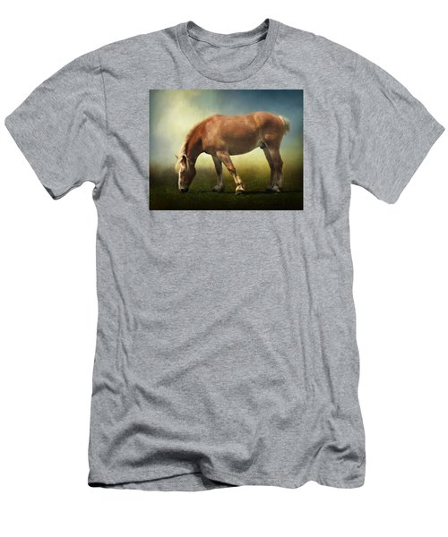 Grazing Belgian Men's T-Shirt (Slim Fit) by David and Carol Kelly