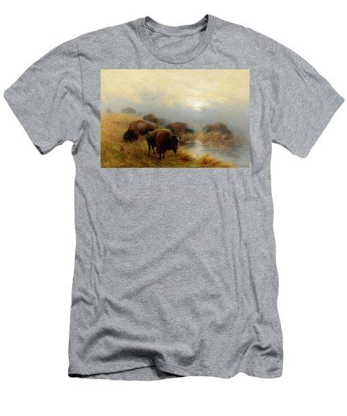 Grazing Buffalo Men's T-Shirt (Athletic Fit)