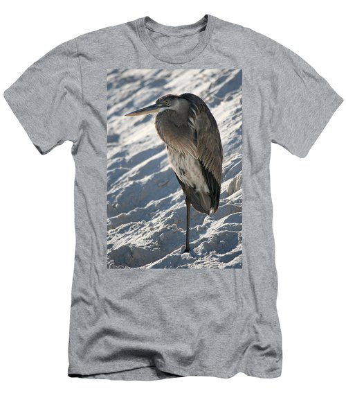 Men's T-Shirt (Slim Fit) featuring the photograph Great Blue Heron by Kathleen Scanlan