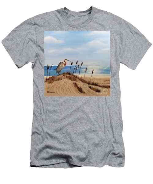 Great Blue Heron - Outer Banks Men's T-Shirt (Athletic Fit)