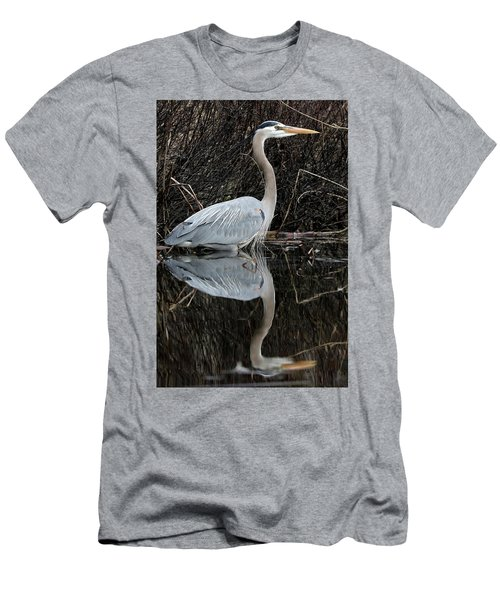 Great Blue Heron Reflection 1 Men's T-Shirt (Athletic Fit)
