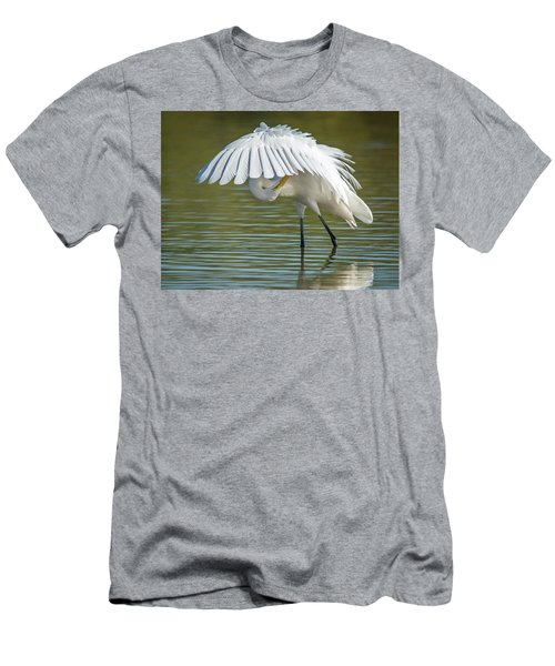 Great Egret Preening 8821-102317-2 Men's T-Shirt (Athletic Fit)