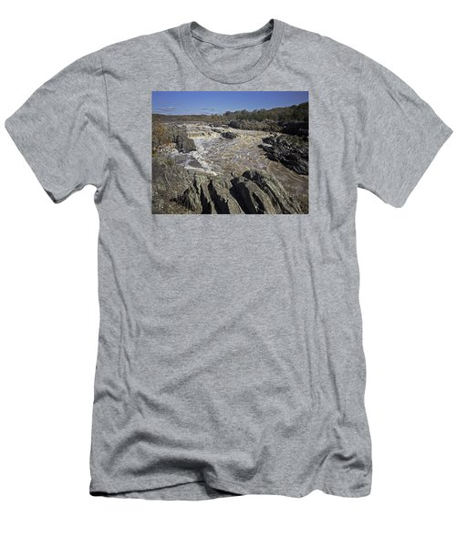 Great Falls Park Va. Men's T-Shirt (Athletic Fit)