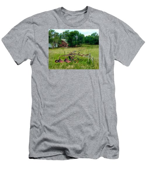 Great Grandpa's Plow Men's T-Shirt (Slim Fit) by Ric Darrell