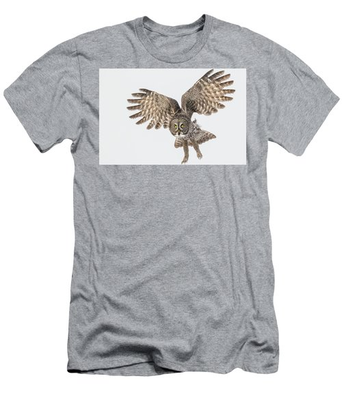 Great Grey Flight  Men's T-Shirt (Athletic Fit)