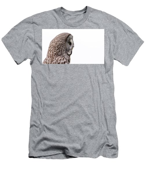 Great Grey's Profile On White Men's T-Shirt (Athletic Fit)