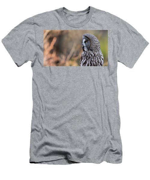 Great Grey's Profile Men's T-Shirt (Slim Fit) by Torbjorn Swenelius