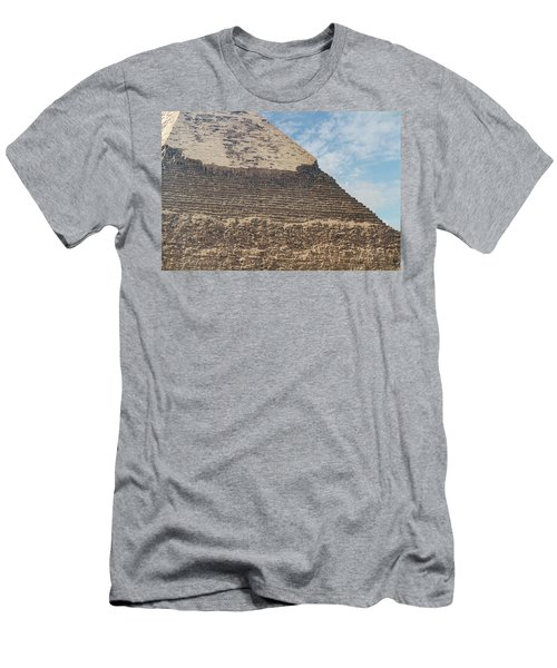 Men's T-Shirt (Athletic Fit) featuring the photograph Great Pyramid Of Giza by Silvia Bruno