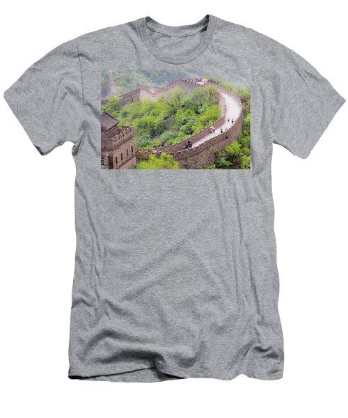 Great Wall At Badaling Men's T-Shirt (Athletic Fit)