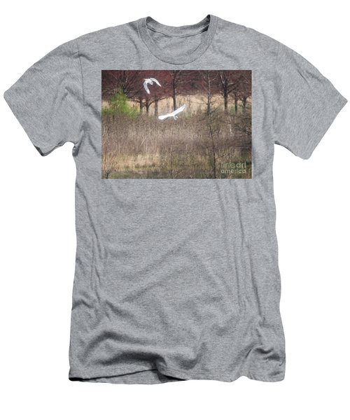 Men's T-Shirt (Slim Fit) featuring the photograph Great White Egret - 3 by David Bearden