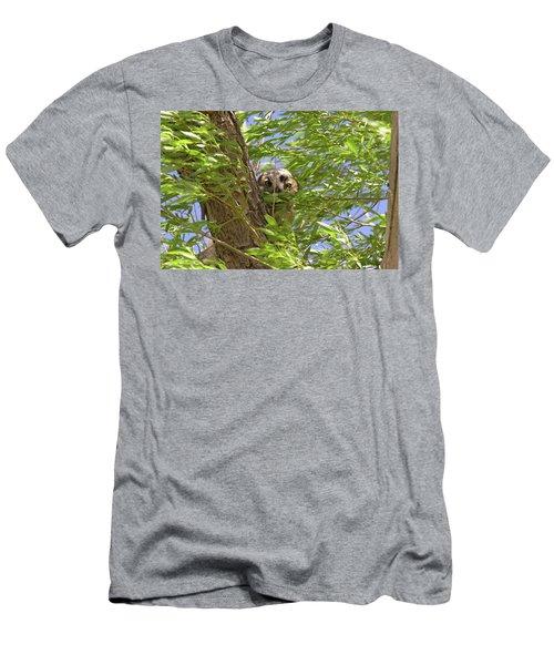 Greathornedowlchick1 Men's T-Shirt (Athletic Fit)