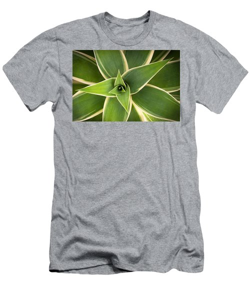 Men's T-Shirt (Slim Fit) featuring the photograph Green Agave by Catherine Lau