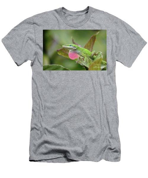 Green Anole Men's T-Shirt (Slim Fit) by Terri Mills