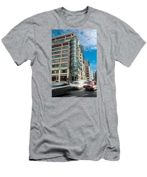 Green Building On Liverpool Metro Station London Men's T-Shirt (Athletic Fit)