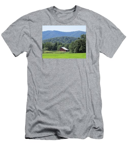 Mountain Barn Retreat Men's T-Shirt (Slim Fit) by Charlotte Gray