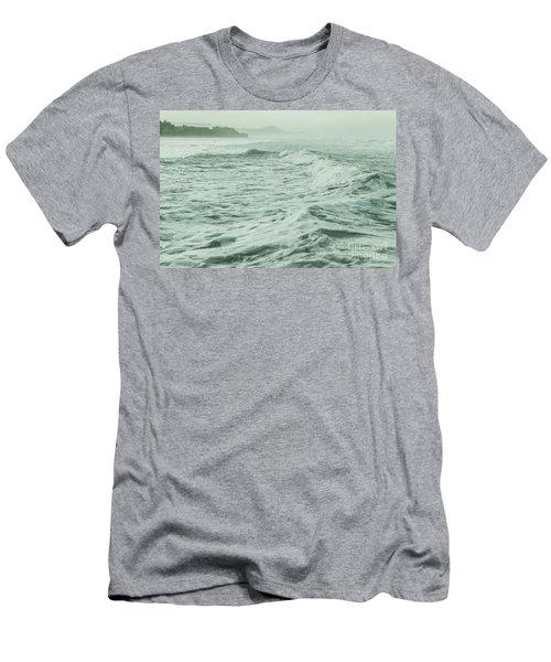 Green Waves Men's T-Shirt (Slim Fit) by Iris Greenwell