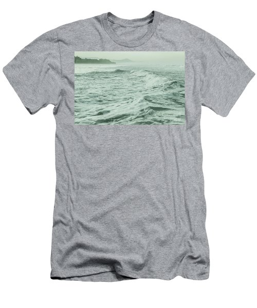 Green Waves Men's T-Shirt (Athletic Fit)