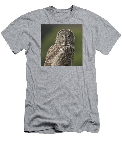 Men's T-Shirt (Slim Fit) featuring the photograph Great Gray Owl Portrait by Doug Herr