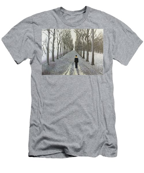 Men's T-Shirt (Slim Fit) featuring the painting Grey Day by Thomas Blood