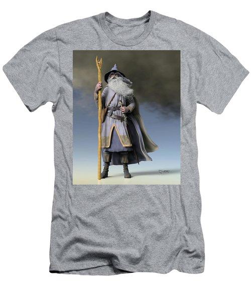 Grey Wizard Men's T-Shirt (Slim Fit) by Dave Luebbert