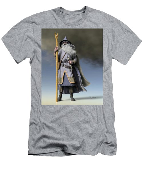 Grey Wizard Men's T-Shirt (Athletic Fit)