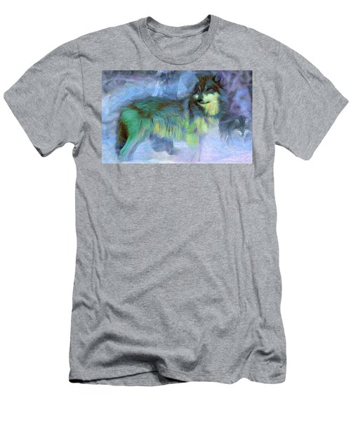Grey Wolves In Snow Men's T-Shirt (Athletic Fit)