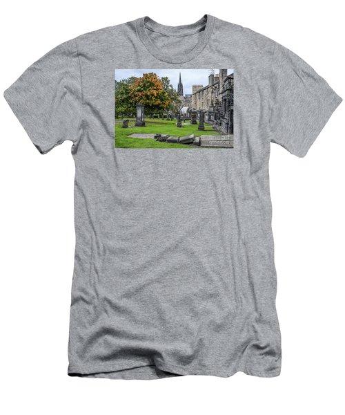 Greyfriars Kirkyard 1562  Men's T-Shirt (Slim Fit) by Amy Fearn