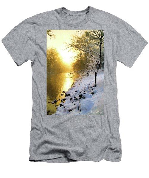 Grings Mill Fog 010 Men's T-Shirt (Slim Fit) by Scott McAllister