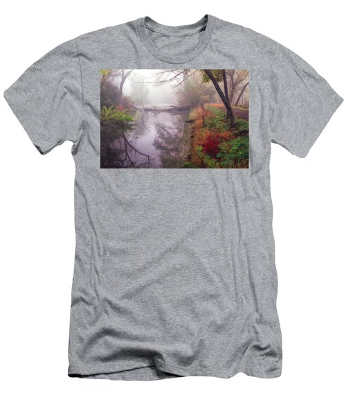 Grings Mill Fog 015 Men's T-Shirt (Slim Fit) by Scott McAllister