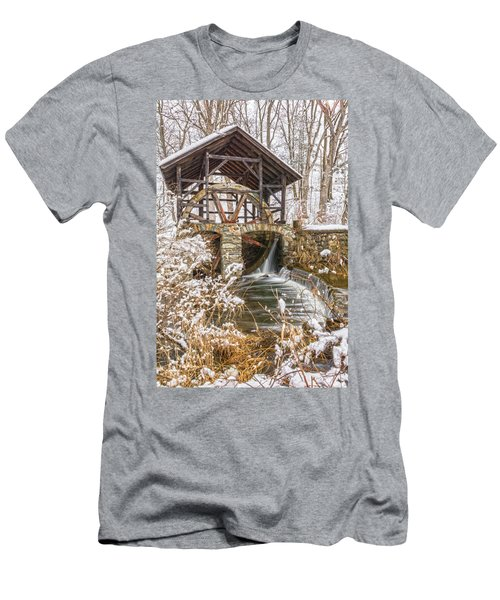 Grist Mill In Fresh Snow Men's T-Shirt (Athletic Fit)