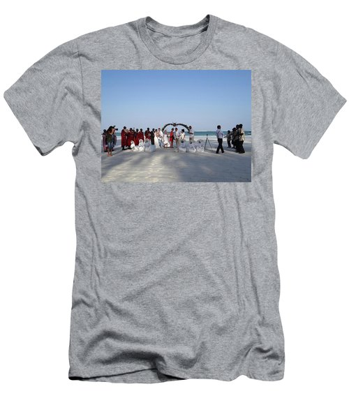 Group Wedding Photo Africa Beach Men's T-Shirt (Athletic Fit)