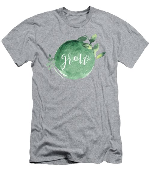 Grow Men's T-Shirt (Slim Fit) by Nancy Ingersoll