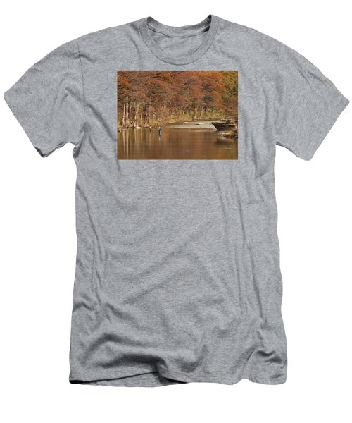 Guadalupe River Fly Fishing Men's T-Shirt (Athletic Fit)