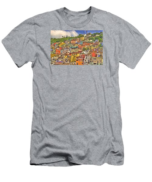 Guanajuato Hillside Men's T-Shirt (Slim Fit) by Juli Scalzi