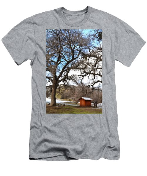 Men's T-Shirt (Slim Fit) featuring the photograph Guard Shack At Fort Tejon Lebec California by Floyd Snyder