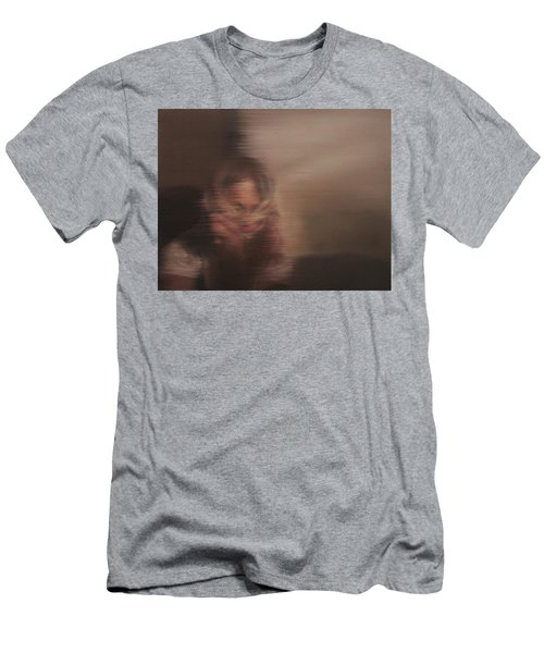 Men's T-Shirt (Slim Fit) featuring the painting Guarded by Cherise Foster