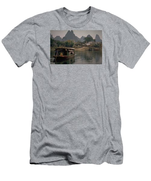 Guilin Limestone Peaks Men's T-Shirt (Slim Fit) by Travel Pics