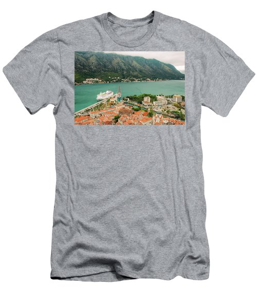 Gulf Of Kotor With Cruise Liner Men's T-Shirt (Athletic Fit)