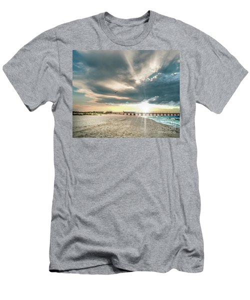 Gulf Shores Al Pier Seascape Sunrise 152c Men's T-Shirt (Athletic Fit)