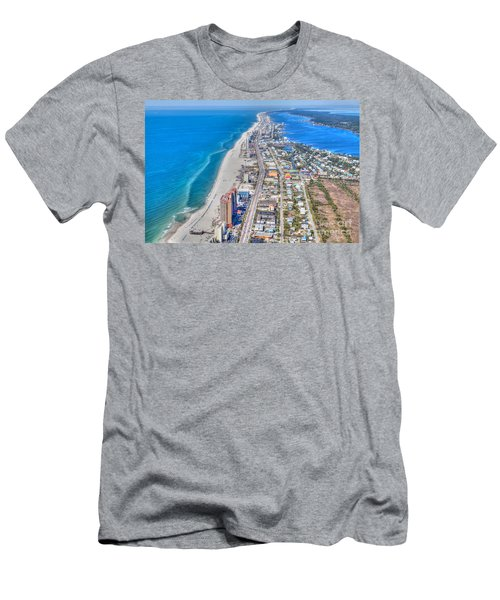 Gulf Shores Beach Looking W Men's T-Shirt (Athletic Fit)