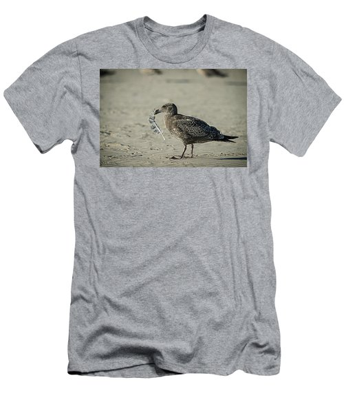 Gull And Feather Men's T-Shirt (Athletic Fit)