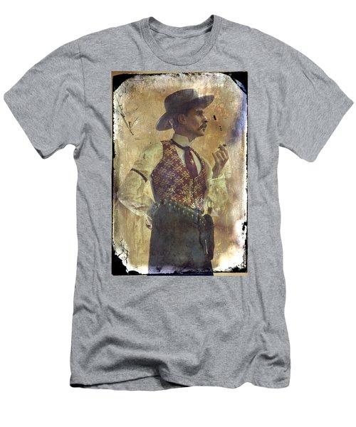 Gunslinger IIi Doc Holliday In Fine Attire Men's T-Shirt (Slim Fit) by Toni Hopper
