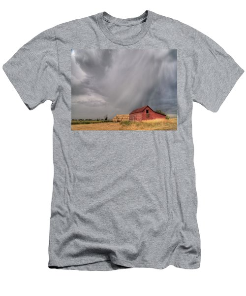 Hail Shaft And Montana Barn Men's T-Shirt (Athletic Fit)