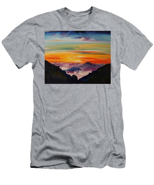 Haleakala Volcano Sunrise In Maui      101 Men's T-Shirt (Athletic Fit)