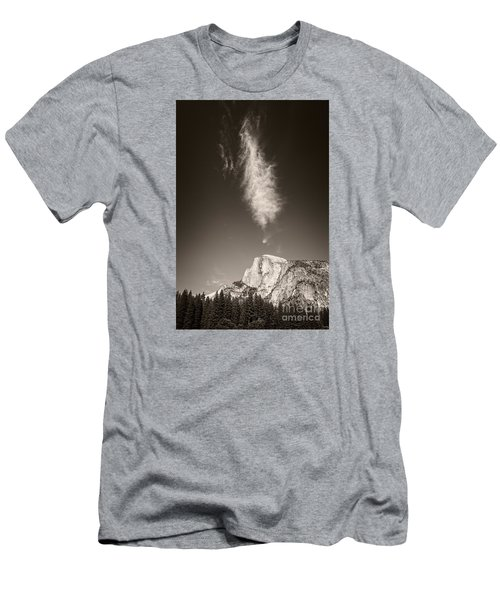 Half Dome And Cloud Men's T-Shirt (Athletic Fit)