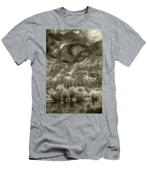 Half Dome Over Mirror Lake Men's T-Shirt (Athletic Fit)